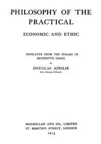 cover for book The Philosophy of the Practical: Economic and Ethic