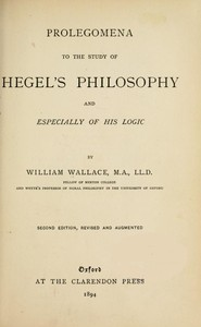 cover for book Prolegomena to the Study of Hegel's Philosophy
