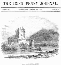 cover for book The Irish Penny Journal, Vol. 1 No. 37, March 13, 1841