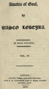 Cover of the book Amadís of Gaul, (Vol. IV. of IV) by Vasco Lobeira