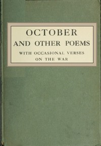 cover for book October and Other Poems