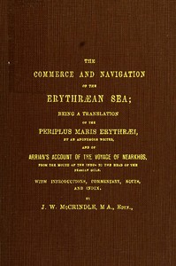 cover for book The Commerce and Navigation of the Erythraean Sea