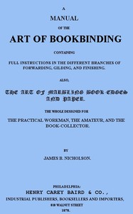 cover for book A Manual of the Art of Bookbinding