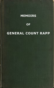 cover for book Memoirs of General Count Rapp, First aide-de-camp to Napoleon