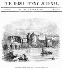 cover for book The Irish Penny Journal, Vol. 1 No. 39, March 27, 1841