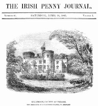 cover for book The Irish Penny Journal, Vol. 1 No. 41, April 10, 1841