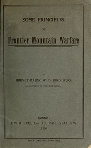cover for book Some Principles of Frontier Mountain Warfare