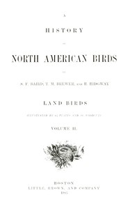 cover for book A History of North American Birds, Land Birds - Volume 2