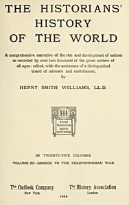 cover for book The Historians' History of the World in Twenty-Five Volumes, Volume 3