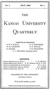 cover for book The Kansas University Quarterly, Vol. I, No. 1 (1892)