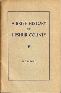 cover for book A Brief History of Upshur County