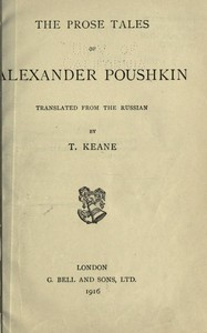 cover for book The Prose Tales of Alexander Pushkin
