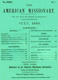 cover for book The American Missionary — Volume 34, No. 7, July, 1880