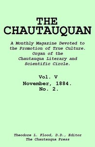 cover for book The Chautauquan, Vol. 05, November 1884, No. 2