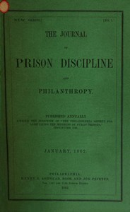 cover for book The Journal of Prison Discipline and Philanthropy, January 1862