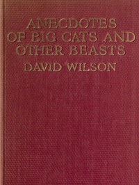 cover for book Anecdotes of Big Cats and Other Beasts