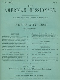 Cover of the book The American Missionary — Volume 35, No. 2, February, 1881 by Various