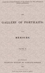 cover for book The Gallery of Portraits: with Memoirs. Volume 3 (of 7)