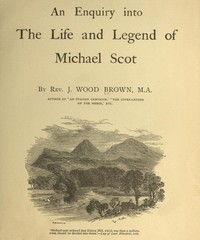 cover for book An Enquiry into The Life and Legend of Michael Scot