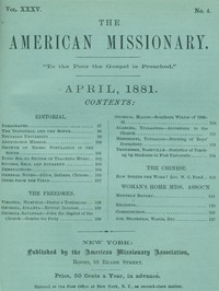 Cover of the book The American Missionary — Volume 35, No. 4, April, 1881 by Various
