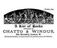 cover for book A list of books published by Chatto and Windus, October 1892