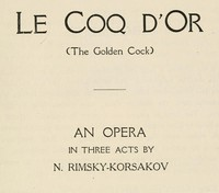 cover for book Le Coq D'Or (The Golden Cock)