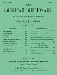 cover for book The American Missionary — Volume 34, No. 8, August, 1880