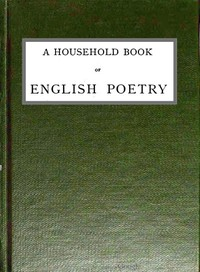 cover for book A Household Book of English Poetry