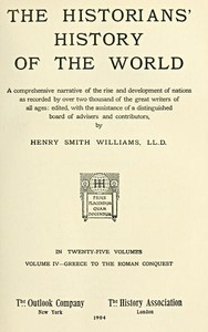 cover for book The Historians' History of the World in Twenty-Five Volumes, Volume 4