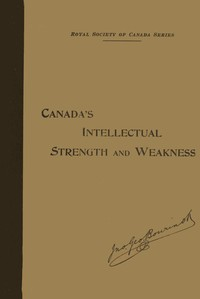 cover for book Our Intellectual Strength and Weakness