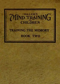 cover for book Miller's Mind Training for Children, Book 2 of 3