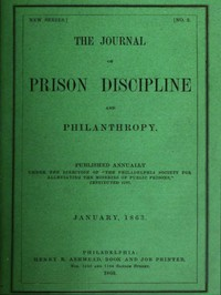 cover for book The Journal of Prison Discipline and Philanthropy, January, 1863