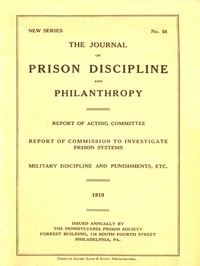 cover for book The Journal of Prison Discipline and Philanthropy 1919 (New Series, No. 58)