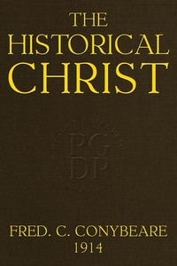 cover for book The Historical Christ;