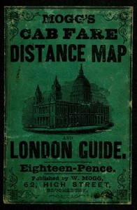 cover for book Mogg's Cab Fare Distance Map and London Guide.