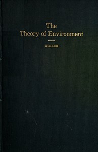 cover for book The Theory of Environment
