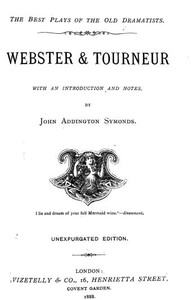 cover for book Webster & Tourneur