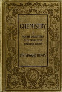 cover for book History of Chemistry, Volume I (of 2)
