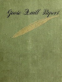 cover for book Goose-Quill Papers