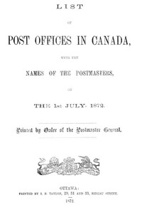 cover for book List of Post Offices in Canada 1872