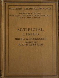 cover for book Artificial Limbs