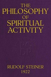cover for book The Philosophy of Spiritual Activity