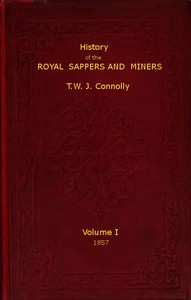 cover for book History of the Royal Sappers and Miners, Volume 1 (of 2)