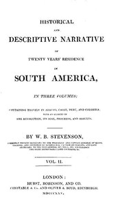 cover for book Historical and descriptive narrative of twenty years' residence in South America (Vol 2 of 3)