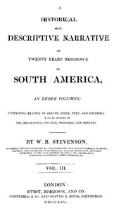 cover for book Historical and descriptive narrative of twenty years' residence in South America (Vol 3 of 3)