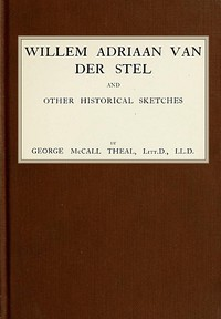 cover for book Willem Adriaan Van Der Stel