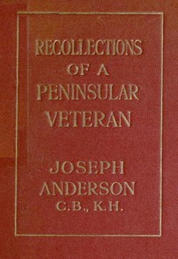 cover for book Recollections of a Peninsula Veteran