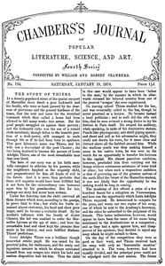 cover for book Chambers's Journal of Popular Literature, Science, and Art, No. 734, January 19, 1878