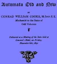 cover for book Automata Old and New
