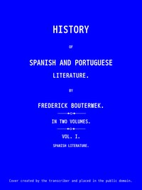 cover for book History of Spanish and Portuguese Literature (Vol 1 of 2)